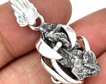 Meteorite Campo Del Cielo 925 Silver Pendant
