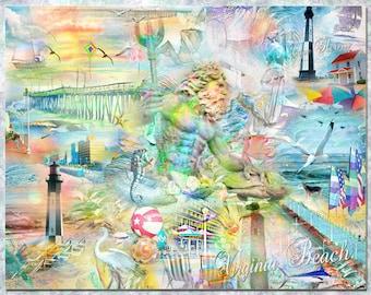 Virginia Beach, an Artistic Collage