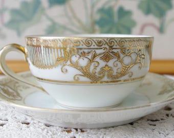 1920 Moriage Art Deco Noritake Teacup Set