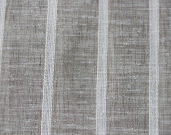 """FABRIC, Sheer fabric,118"""" Sheer Stripe Linen look fabric, Marin Linen, By Zepal Fabric, For Drapery, Table Cloth,"""