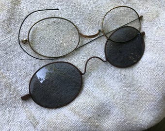 Two Pair of Antique/Vintage Eyeglasses and Sunglasses for Repurposing