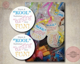 """Have a """"Kool"""" Summer End of the School Year Tags- Instant Download"""