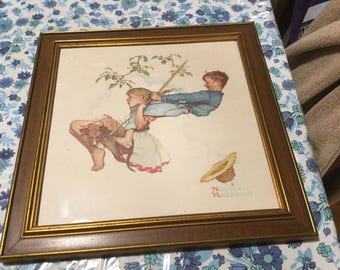 Vintage Norman Rockwell framed lithograph
