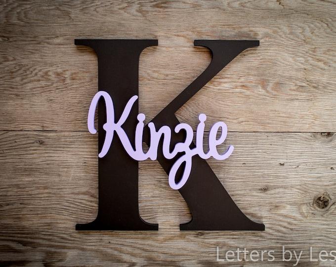 Nursery Decor, Wood Letters, Custom made, Wall hanging sign, Girl Nursery, Boy Nursery