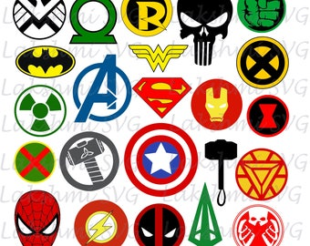Superheroes SVG, Superhero eps, Superhero logo SVG, Superhero logo clipart, super hero svg, cameo files, svg files for cricut, dxf, vector