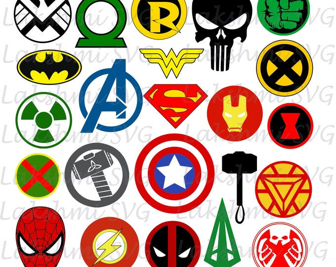 Super hero custom logo designs