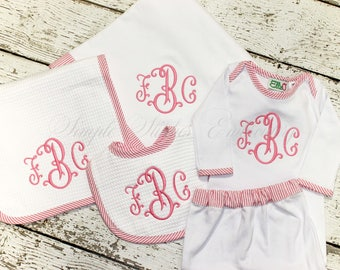 Monogrammed Baby Set