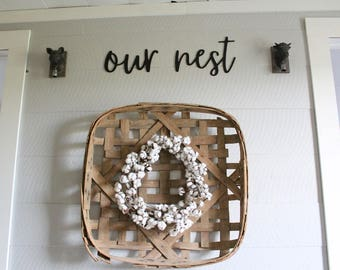 Our Nest Sign Gallery Wall Sign Farmhouse Gallery Wall Our Nest