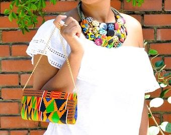 Ankara print clutch purse