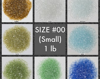 SIZE #00 GALAXY GLASS - 1 lb: Small crushed glass for arts, crafts and decor