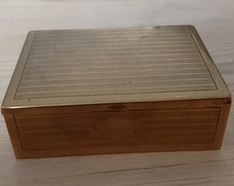 Vintage brass cigarette box