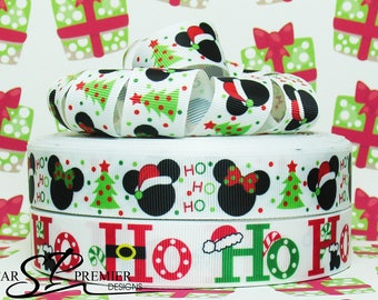 "7/8"" Christmas Grosgrain Ribbon"