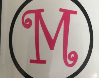 Letter Decal, Name Decal, Personalized, Monogram, Car Decal, Laptop Decal, Vinyl Lettering, Yeti Cup Decal, Yeti Cup Decal