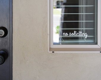 No Soliciting Sign Vinyl Decal Sticker - v2