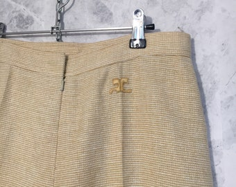 COURREGES High Waist 70's pants, wool trousers