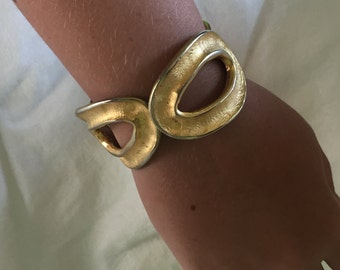 Norma Jean brushed gold tone chunky cuff bracelet
