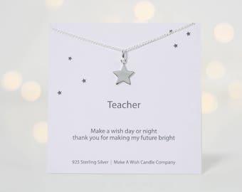 Mentor Teacher Gift, Teacher Gifts, Thank You Teacher, Mentor Gift, Teacher Appreciation Gift, Wish Necklace, School Teacher