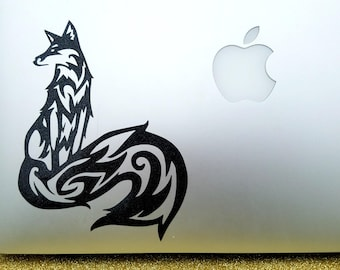 Fox Decal - Custom Size and Color, Long-tailed Fox Decal for Car Windows, Laptops Tablets, Tumblers, Coolers, Mirrors, Glass, Tablets, iPad