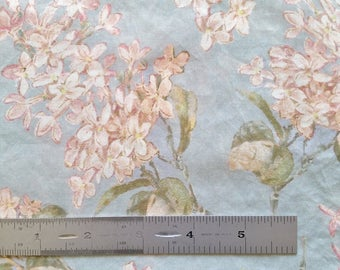 REMNANT SALE Liberty London Archive Lilac B Purple Blue Peach Tana Lawn Fabric