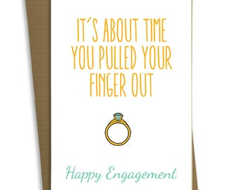 FP0481 Funny Engagement Wedding Card Anniversary Marriage Greeting Card Congratulations