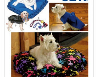 Kwik Sew 'No Sewing Required' sewing pattern 3357 Pet Pillows, Jackets & Toys, Dog and Cat Accessories - new and uncut