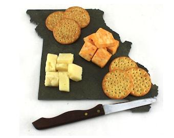 Missouri Slate Cheese Board, Serving Tray, or Cutting Board