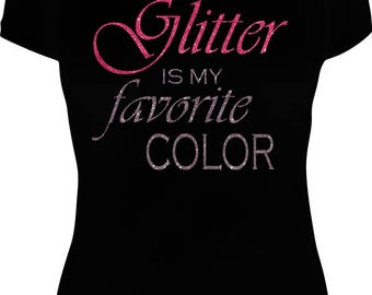 Glitter Is My Favorite Color V-neck T-Shirt