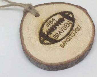 Custom football Ornament, football ornament, football team gift, football christmas gift, football coach gift
