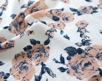 Double Gauze Fabric Rose White By The Yard