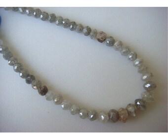 2 Beads, Diamond Beads, Rough Diamonds, Natural Diamonds, Raw Diamond Faceted Beads, Approx 3mm Each