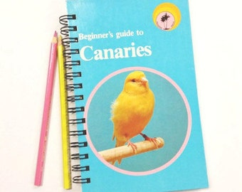 Beginner's guide to Canaries, Recycled Book Journal, Notebook