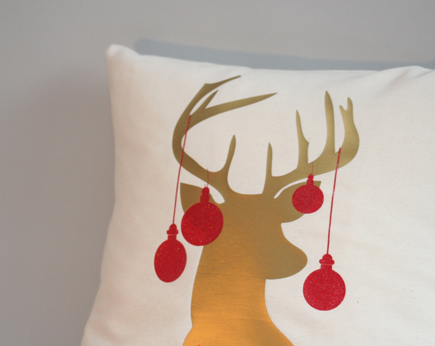 Holiday pillow cover christmas pillow antler deer pillow