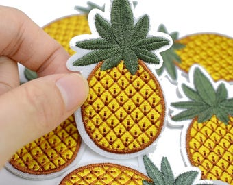 Patch embroidered patch fusible pineapple pineapple 6.2 cm