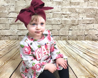 Burgundy Headwrap- Headwrap, Burgundy Head Wrap; Burgundy Headband; Baby Head Wrap; Baby Headwrap; Head Wrap; Big Bow Headwrap; Bandana