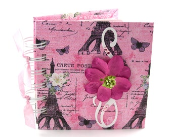 Butterflies in Paris Gratitude Book, gratitude journal, thank you book, thank you journal, gratitude diary, blessings book - pink, black