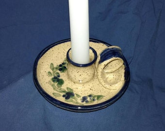 Hand thrown Pottery Candlestick holder