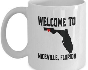 Niceville Florida Mug - Ceramic Mug For Coffee And Tea, 11oz and 15oz, Made In The USA