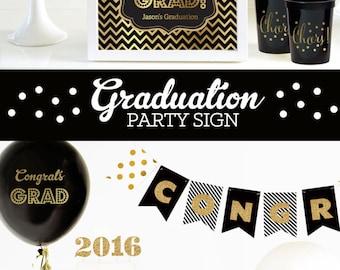 Graduation Party Centerpiece - Graduation Sign - Graduation Candy Buffet Sign - Graduation Centerpiece Decor (EB3058FCT) Printed SIGN ONLY