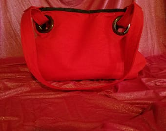 Red and Leopard Bag