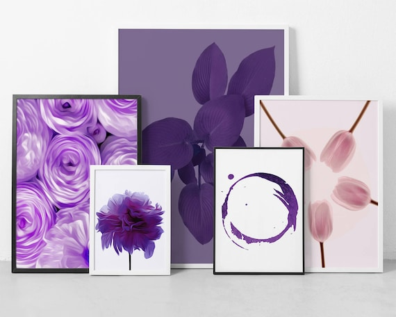 Printable Set of 5 Prints (Affordable Wall Art) for Instant Download