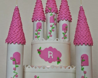princess castle cake topper castle cake topper fondant castle pillars toppers