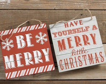 Merry Christmas Sign, Rustic Christmas Sign, Be Merry Sign, Wood Christmas Sign, Raz Christmas Sign