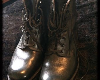 1940s leather boots!