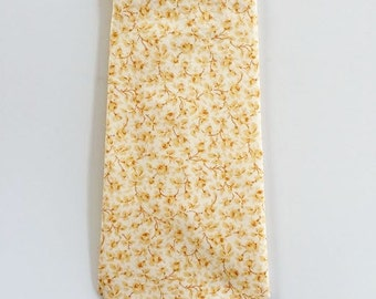 SHIPS IMMEDIATELY, Liberty of London Print Tie, yellow tie,  yellow skinny tie, mustard tie, yellow men's tie, yellow floral tie, fall tie