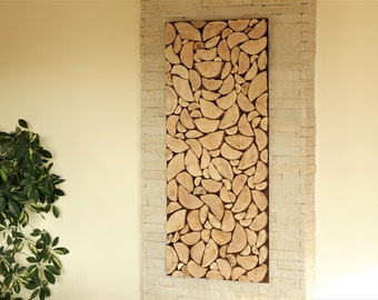 wood art chopped slices panel, Environment wall art, sliced wood art, wood wall art, nature wall hanging, holzwand kunst