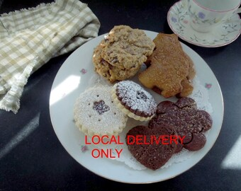 Cookie Assortment -1 Dozen- LOCAL DELIVERY ONLY - Classic Cookies for birthdays, teachers, thank you, gift boxed, for someone special