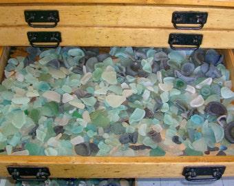 925g Bulk Order   (2lbs) Genuine Scottish Sea Glass Mix   Wedding Decor   Job Lot   Mosaic   Craft Project (Seaglass 925)