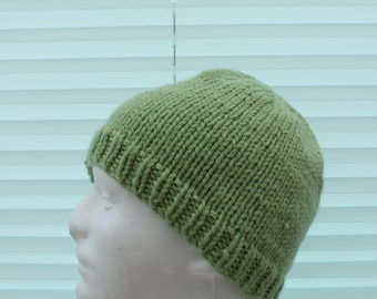 instant download men & ladies chunky/bulky yarn hat knitting pattern, straight or round needles #393