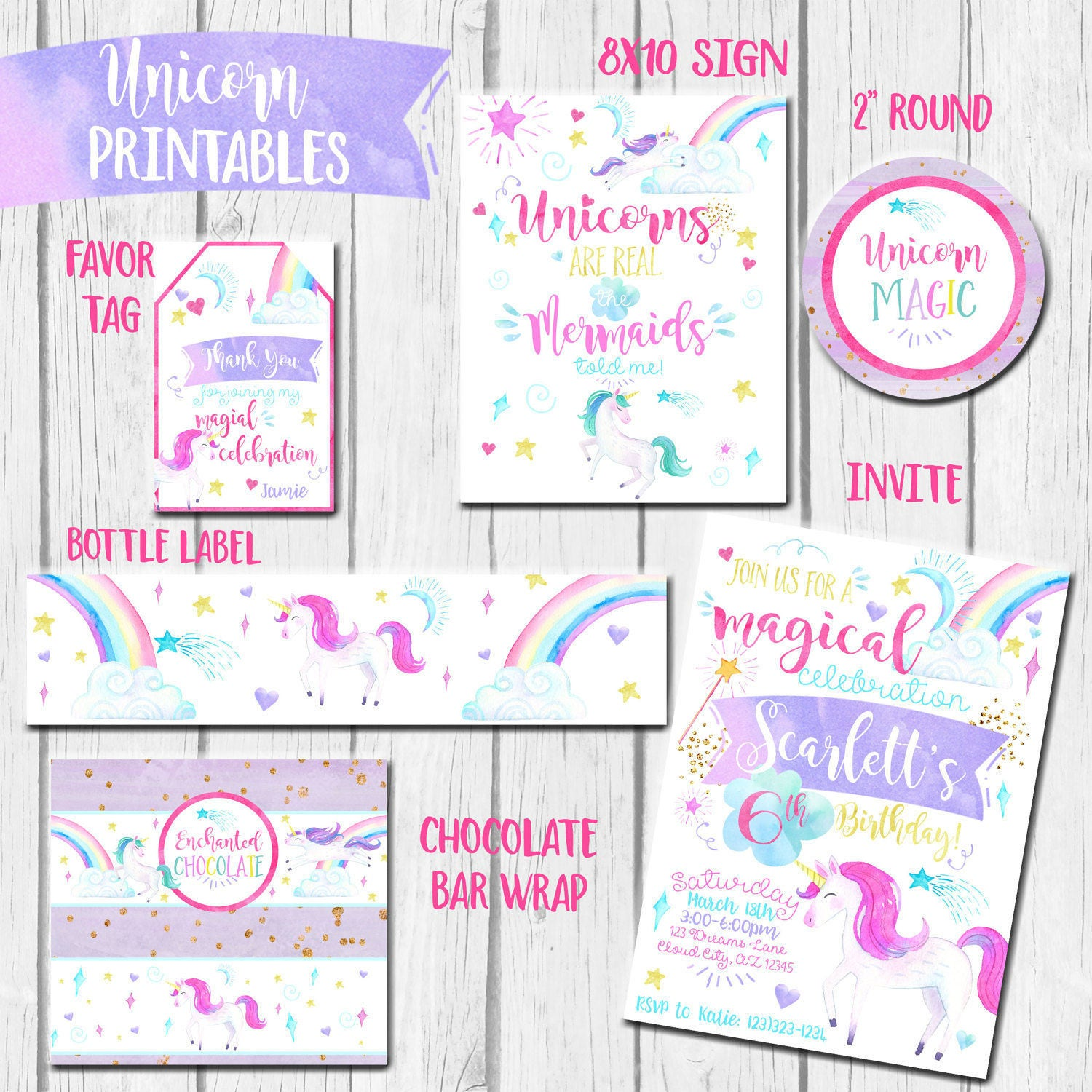 It's just an image of Eloquent Free Unicorn Birthday Printables
