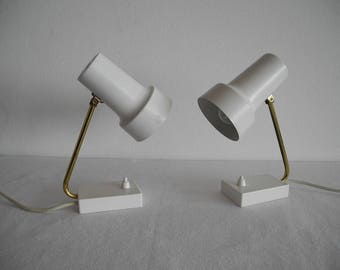 Couple beautiful vintage 50s 60s design night table lamps Stylish
